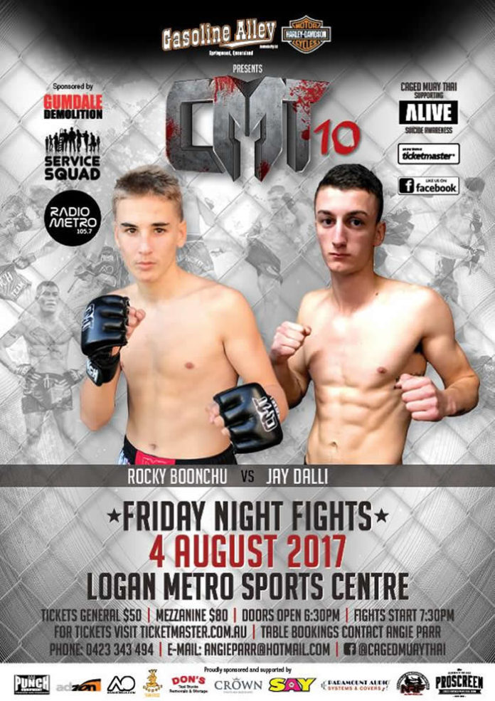Caged Muay Thai 10 fight card