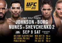 UFC 215 Edmonton features two title fights