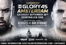 Kickboxing Glory 45 Amsterdam full fight card
