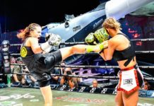 Female kickboxing bout Kalachnikoff vs Spasic beautifies Fight Night Saint Tropez