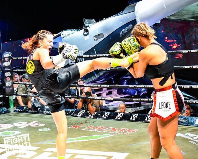 Female kickboxing bout Kalachnikoff vs Spasic beautifies Fight Night Saint Tropez
