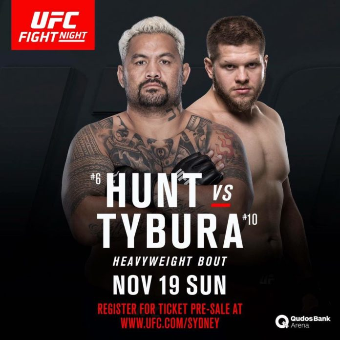 Mark Hunt vs. Marcin Tybura Headlines UFC Fight Night in Australia