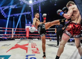 Muay Thai star Superbon Banchamek partakes Kunlun Fight 65