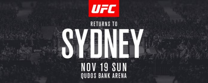 UFC Sydney fight card update