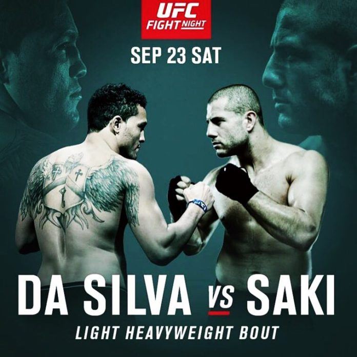Watch Gokhan Saki merk Henrique da Silva at #UFCJapan
