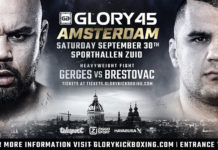 Kickboxing Glory 45 Amsterdam fight card