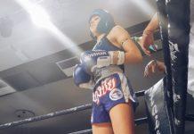 Lilian Dikmans Muay Thai fight video