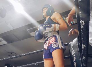 Lilian Dikmans Muay Thai fight video