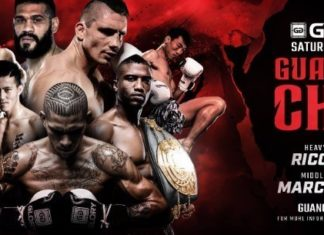 Kickboxing Glory 46 China fight card