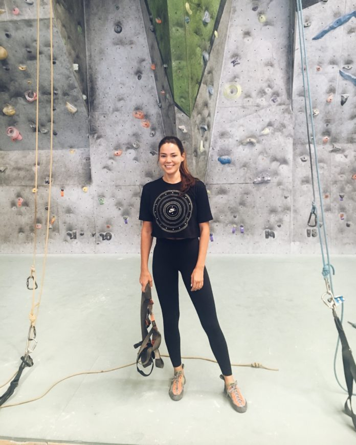 Lilian Dikmans rock climbing training
