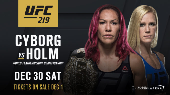 Cris Cyborg-Holly Holm Made Official For UFC 219