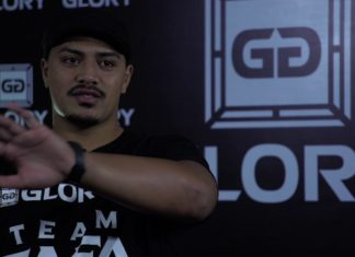 Junior Tafa partakes in GLORY 50 Chicago