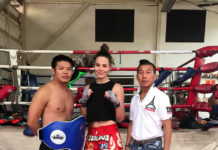 Lilian Dikmans Muay Thai training in Bangkok