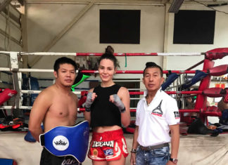 Lilian Dikmans Muay Thai training in Bangkok