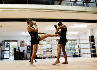 Lilian Dikmans Muay Thai training Perth