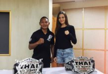 Saenchai and Lilian Dikmans at Thai Fight Bangkok weigh-in