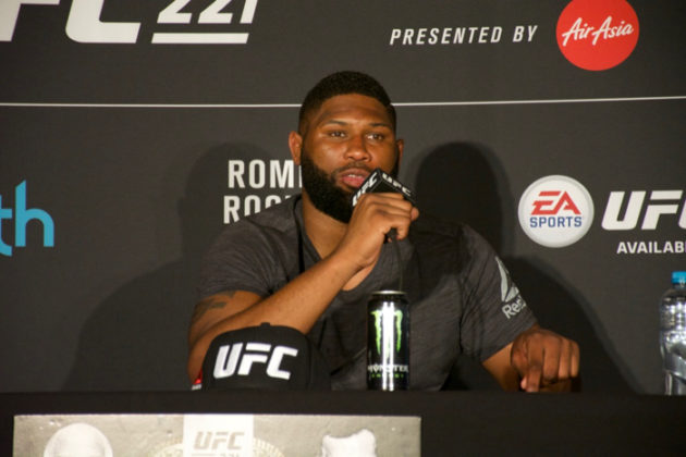Curtis Blaydes at UFC 221 post-fight press conference