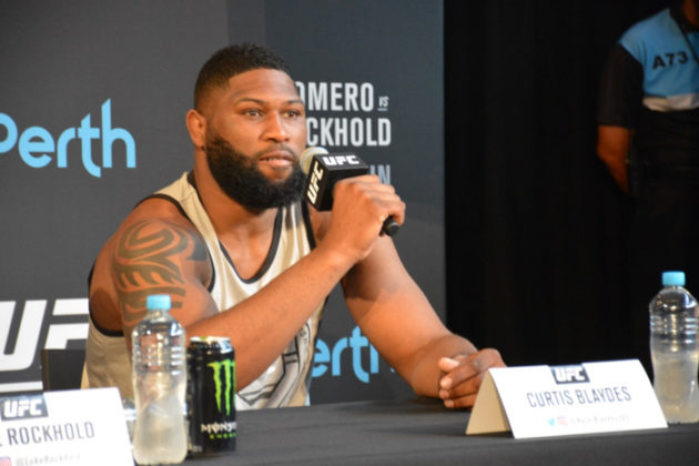 Curtis Blaydes at UFC 221 press conference