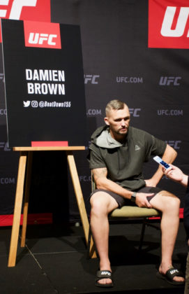 Damien Brown at UFC 221 Media Day