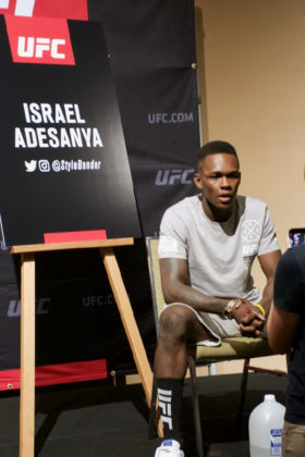 Israel Adesanya at UFC 221 Media Day