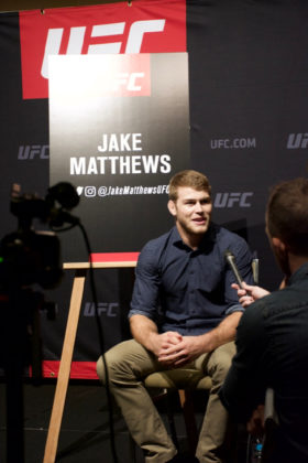 Jake Matthews at UFC 221 Media Day / Pic: Lilian Dikmans