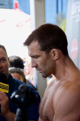 Luke Rockhold at UFC 221 open workouts