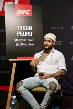 Tyson Pedro at UFC 221 Media Day