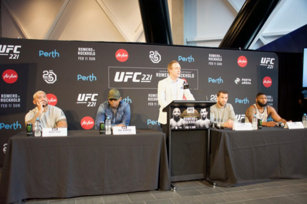 UFC 221 press conference