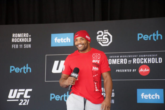 Yoel Romero at UFC 221 open workouts