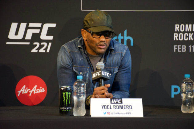 Yoel Romero at UFC 221 press conference