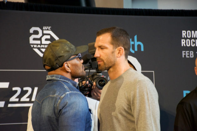 Yoel Romero face off Luke Rockhold at UFC 221 press conference
