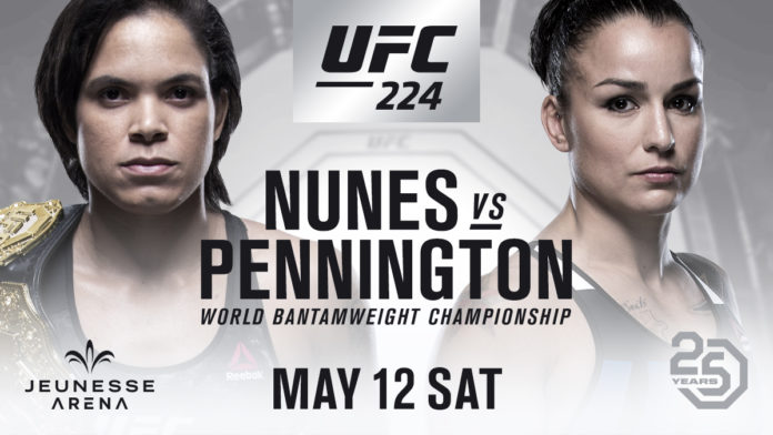 Nunes to defend against Pennington at UFC 224