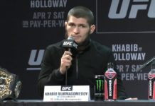 Khabib Nurmagomedov UFC 223 press conference