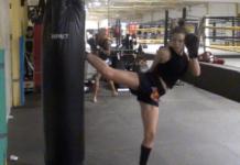 Lilian Dikmans Muay Thai training