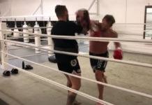 Nathan Carnage Corbett Muay Thai training