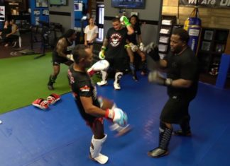 Wiz Khalifa Muay Thai training with Saenchai