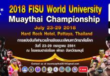 FISU University World Muay Thai Championships 2018