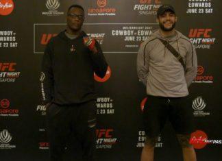 UFC SIngapore: Ovince Saint Preux vs Tyson Pedro