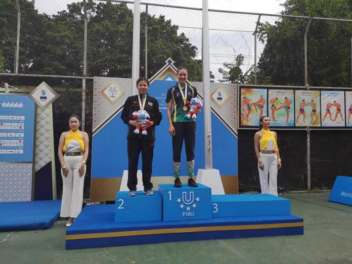Australian Diandra Martin wins Gold at FISU Muay Thai Uni Worlds