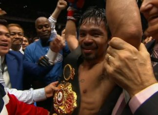 Manny Pacquiao becomes new WBA welterweight champion