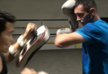 Parviz Iskenderov Muay Thai training
