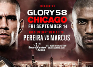 Alex Pereira defends Middleweight title against Simon Marcus at GLORY 58 Chicago