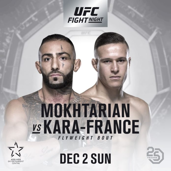 UFC Adelaide: Ashkan Mokhtarian faces Kai Kara-France at Fight Night 142