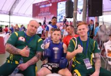 Team Australia at IFMA Muay Thai Youth World Championships