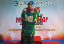 Team Australia at IFMA Muay Thai Youth Worlds