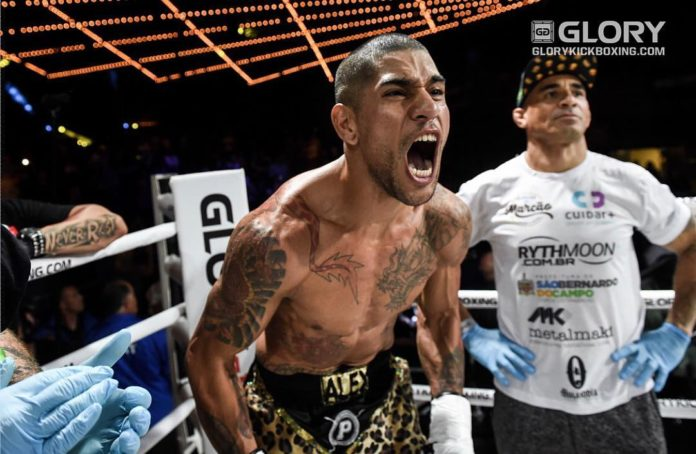 Alex Pereira defeats Simon Marcus at GLORY 58 Chicago