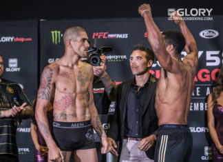 Alex Pereira face off Simon Marcus at GLORY 58 Chicago