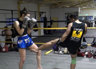 Muay Thai inside leg kick techniques