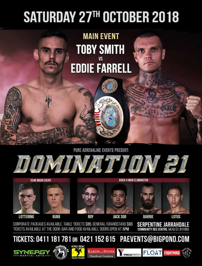 Domination Muay Thai 21 features local and international competitors