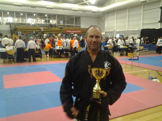 Edward Hope awarded at the National All Style Martial Arts tournament